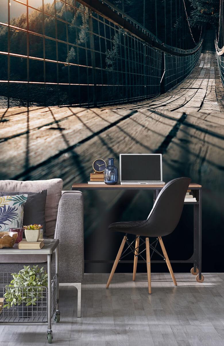 wallpaper Hangbrug van staal 14