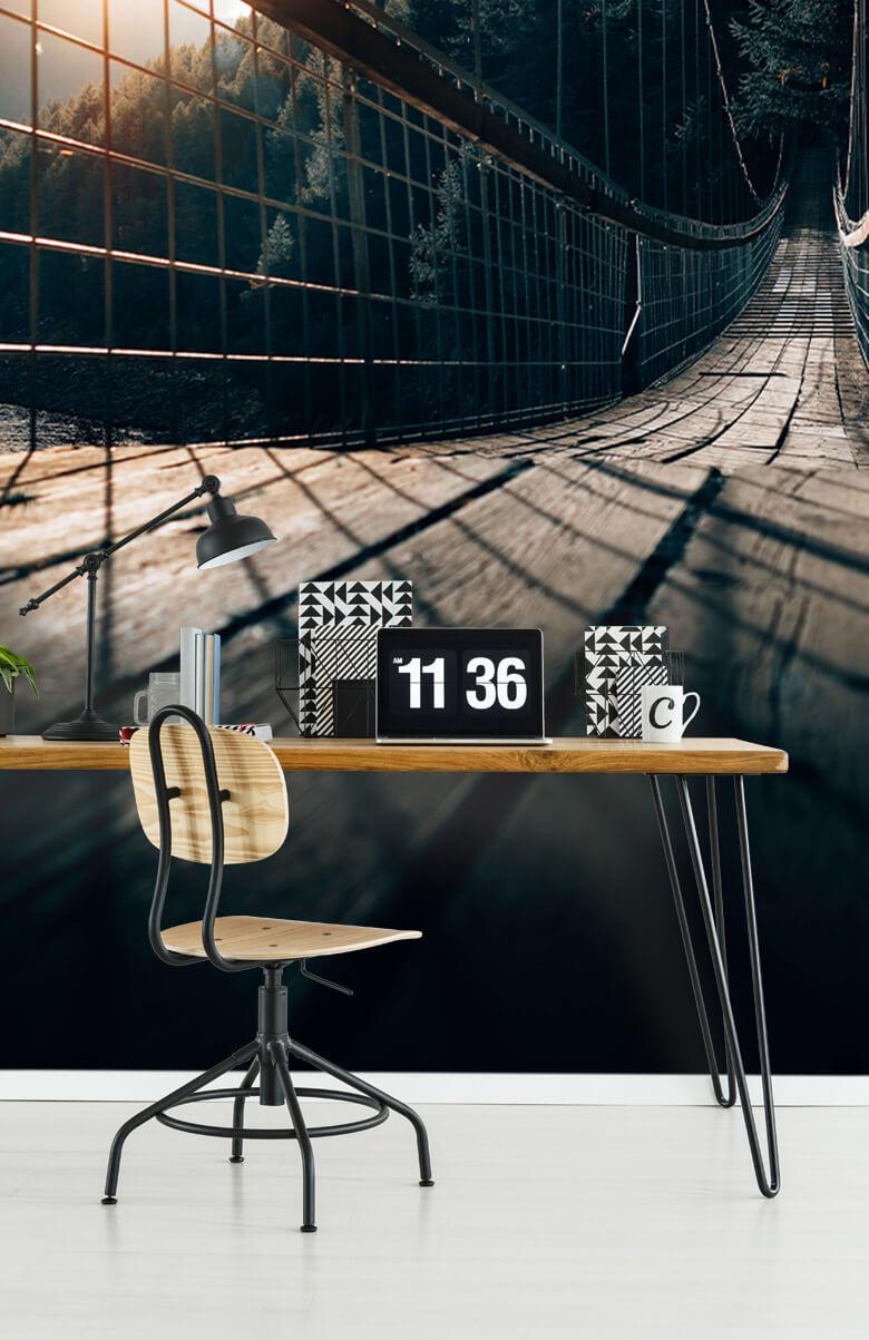 wallpaper Hangbrug van staal 5