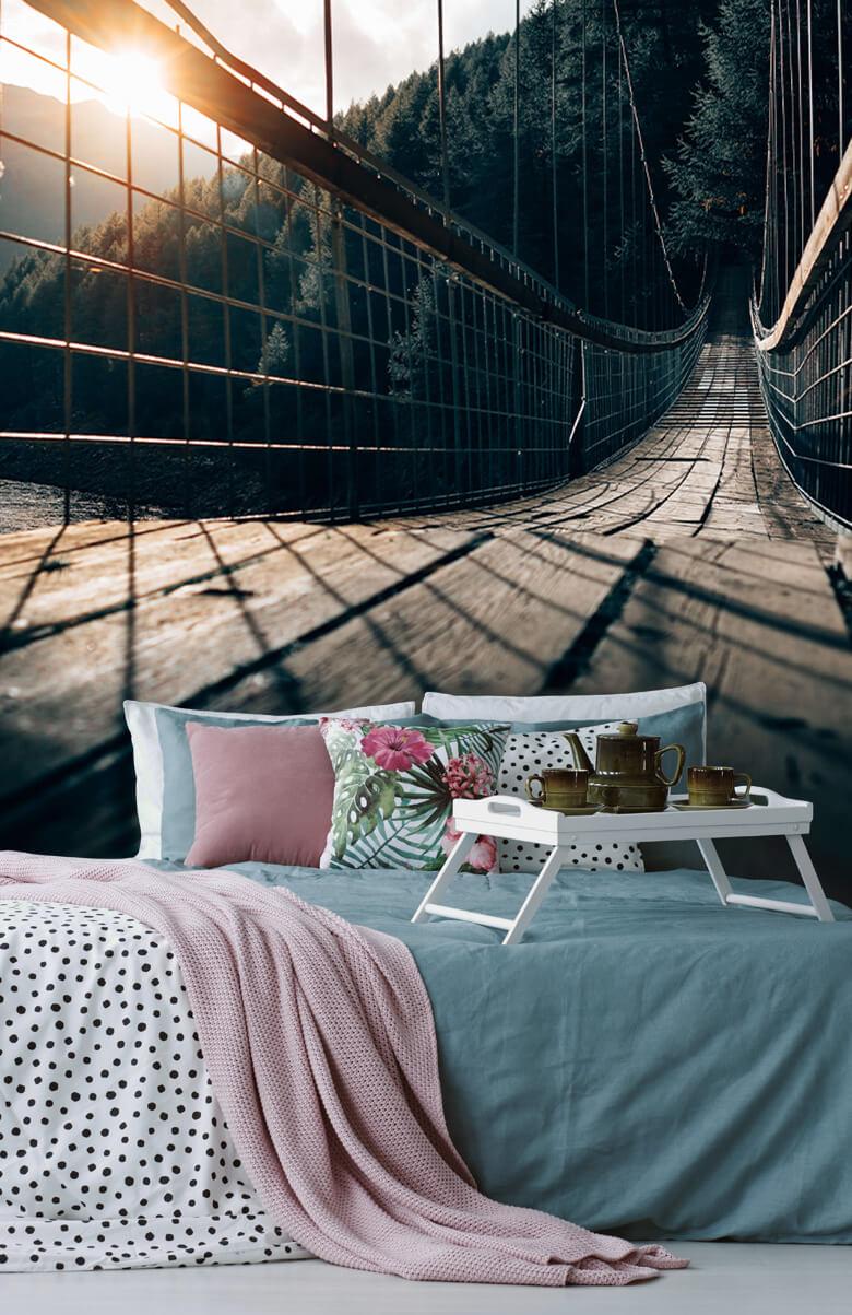 wallpaper Hangbrug van staal 3