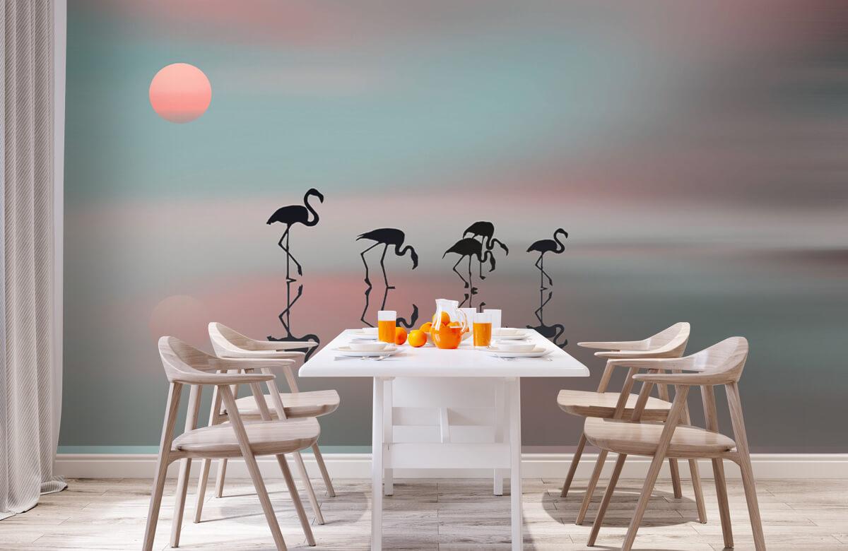 Family flamingos 4