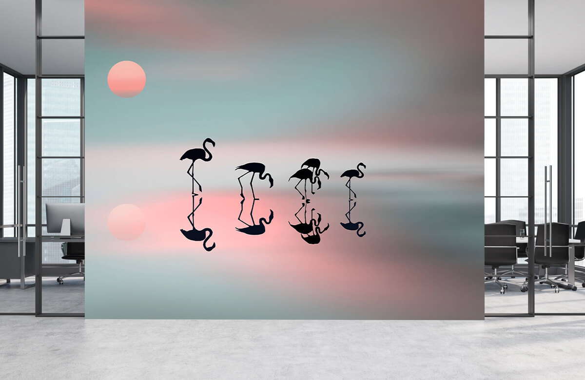 Family flamingos 7