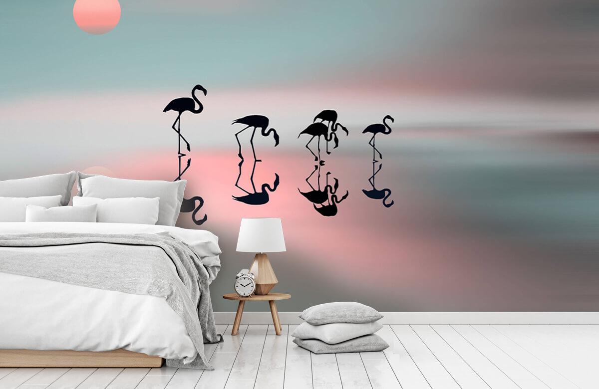 Family flamingos 5