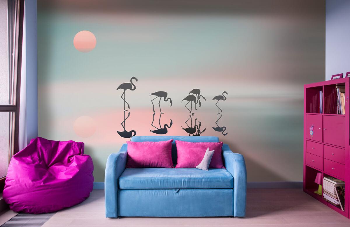 Family flamingos 1