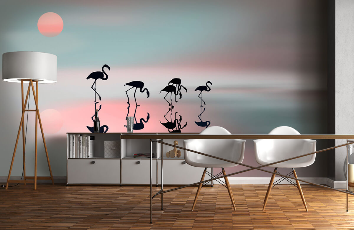 Family flamingos 3