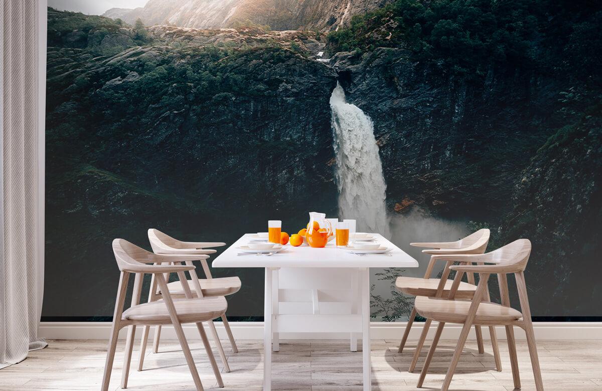 wallpaper Indrukwekkende waterval 4