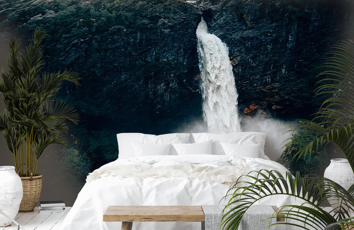 wallpaper Indrukwekkende waterval 8