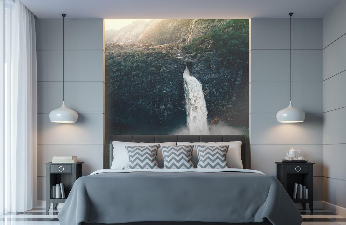 wallpaper Indrukwekkende waterval 11