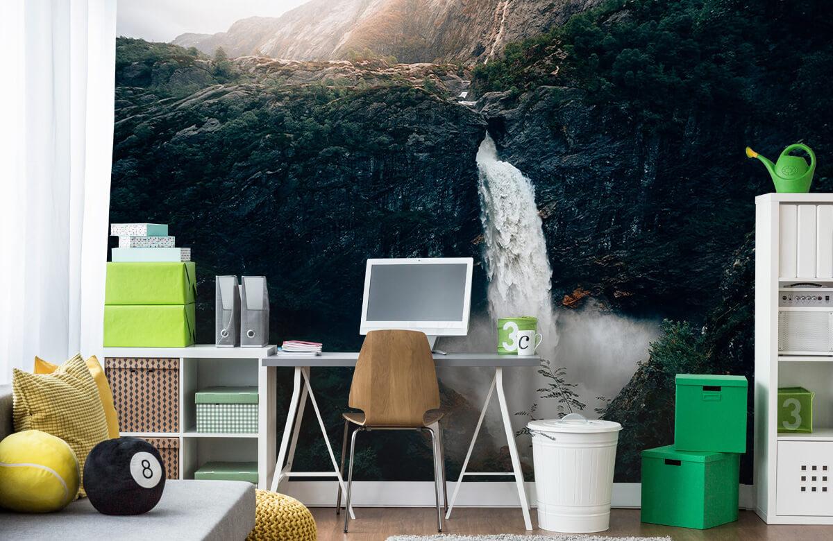 wallpaper Indrukwekkende waterval 10