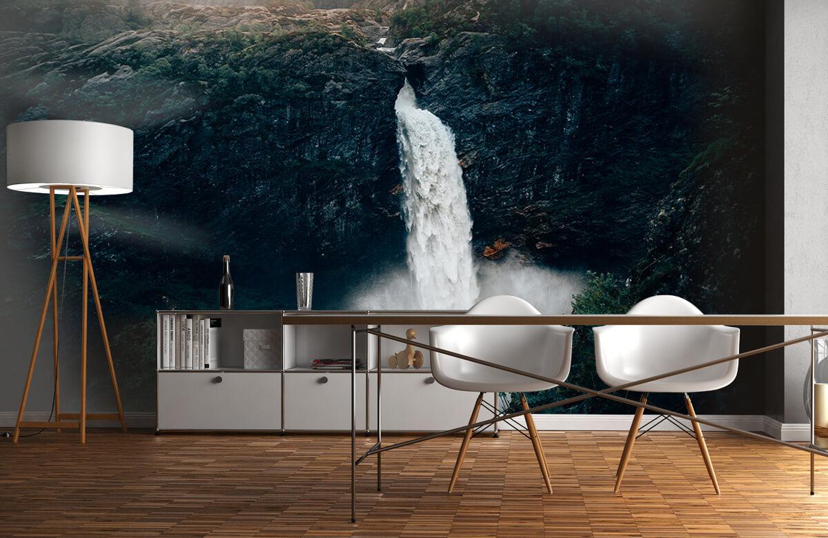 wallpaper Indrukwekkende waterval 1
