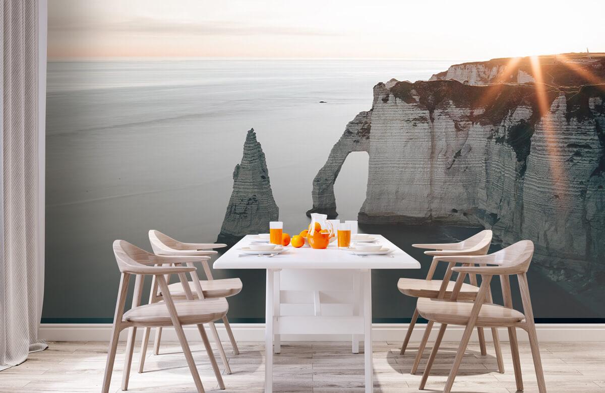 wallpaper Ochtend zon aan de kust 5