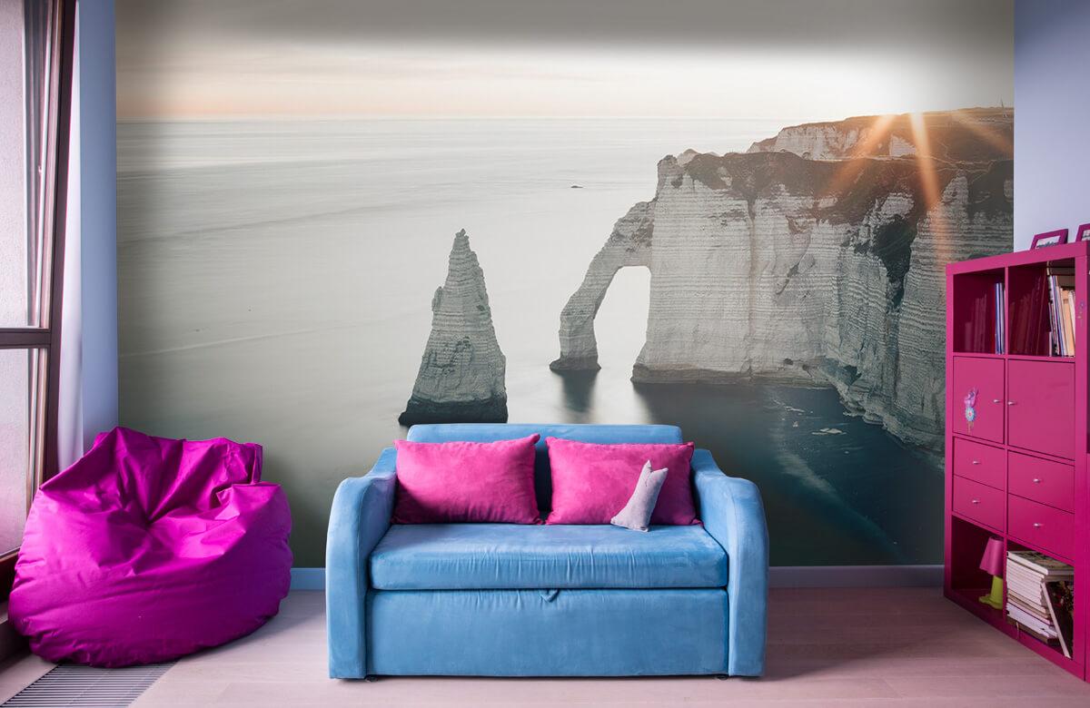 wallpaper Ochtend zon aan de kust 4