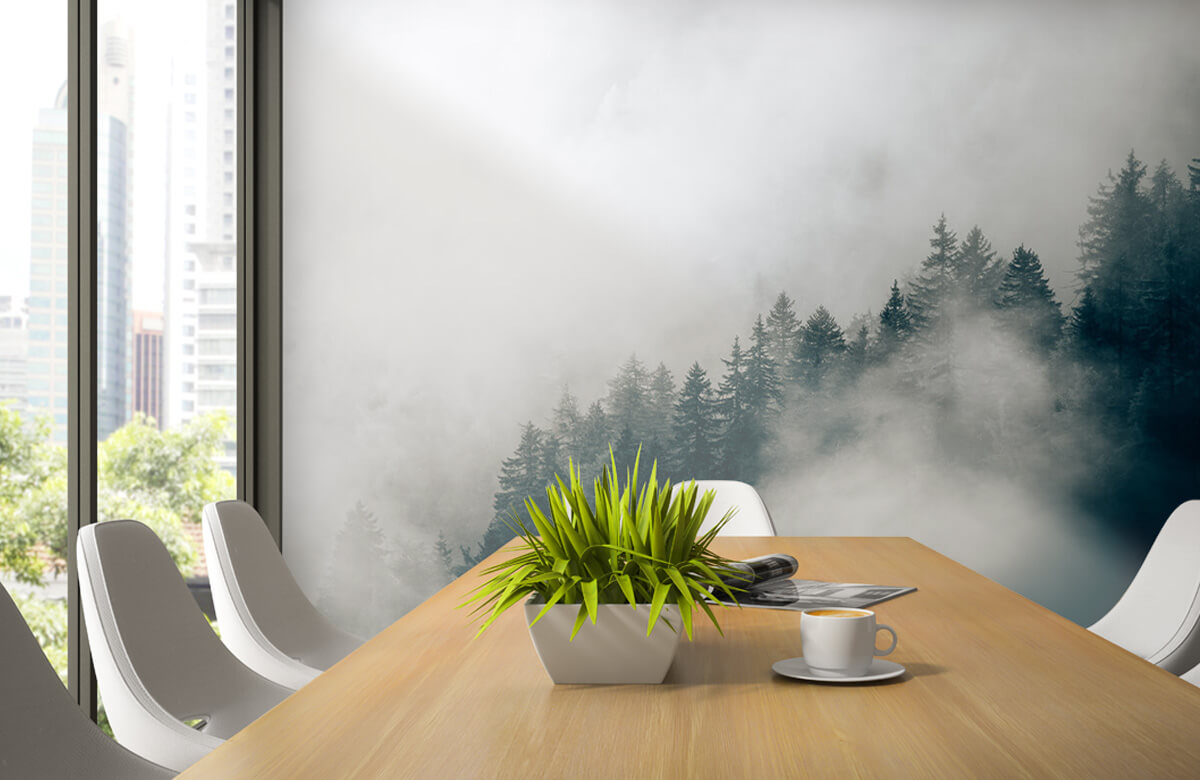 wallpaper Mistige alpen ochtend 4