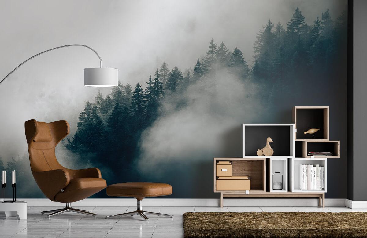 wallpaper Mistige alpen ochtend 7