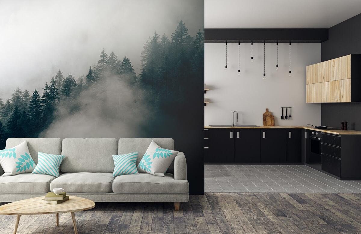 wallpaper Mistige alpen ochtend 9
