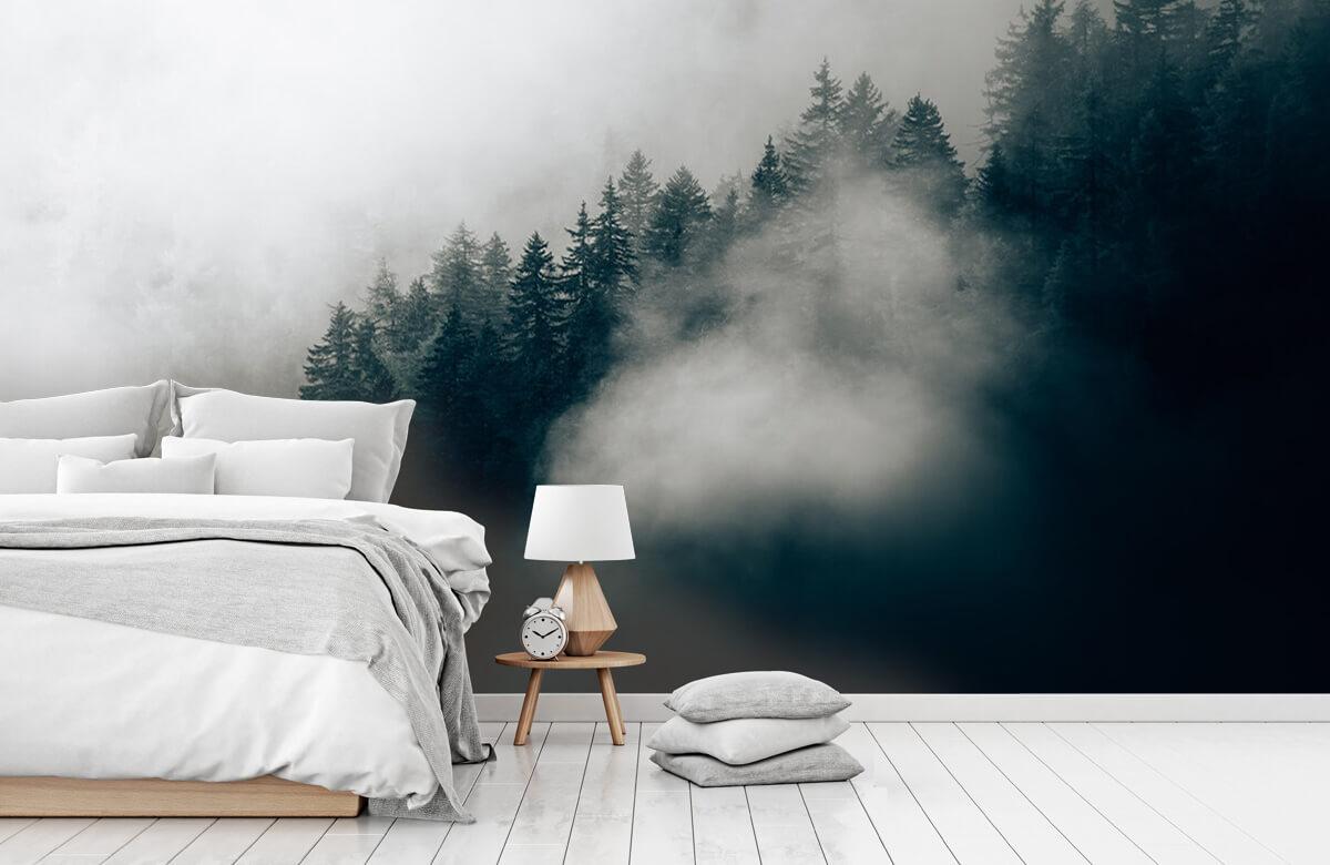 wallpaper Mistige alpen ochtend 1