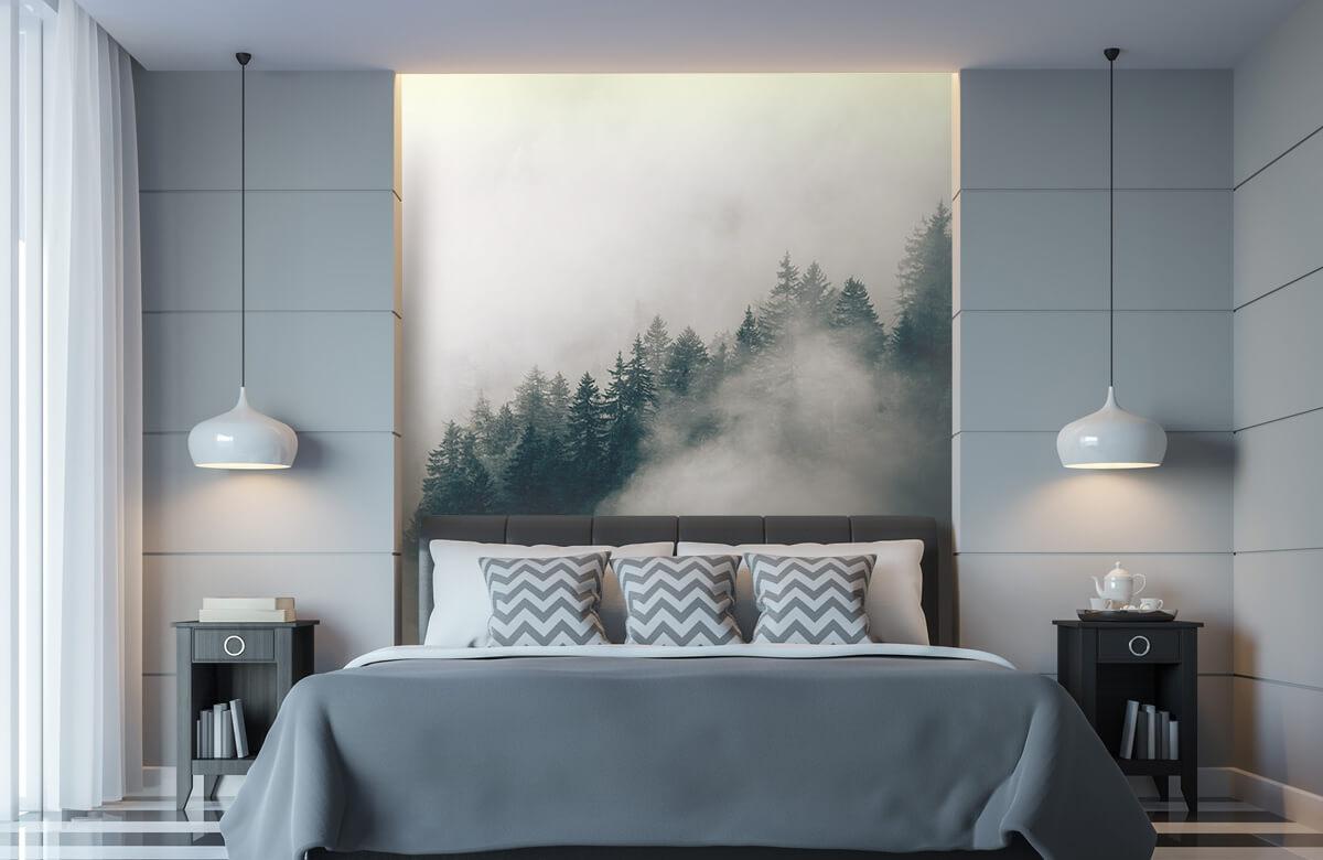 wallpaper Mistige alpen ochtend 8