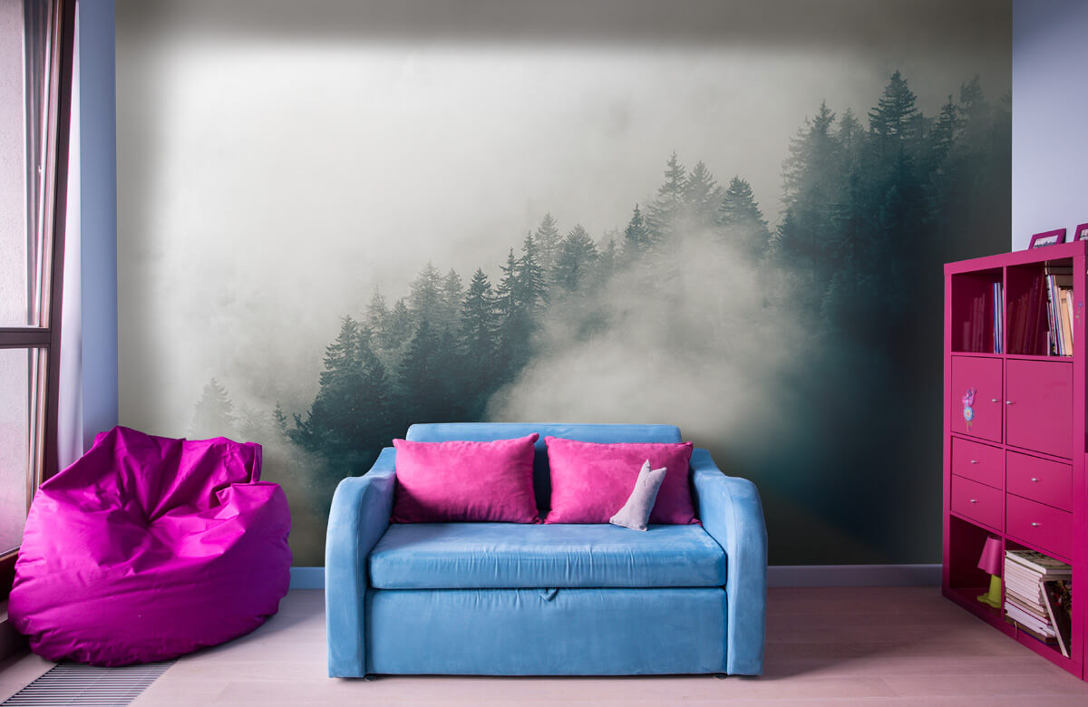 wallpaper Mistige alpen ochtend 11