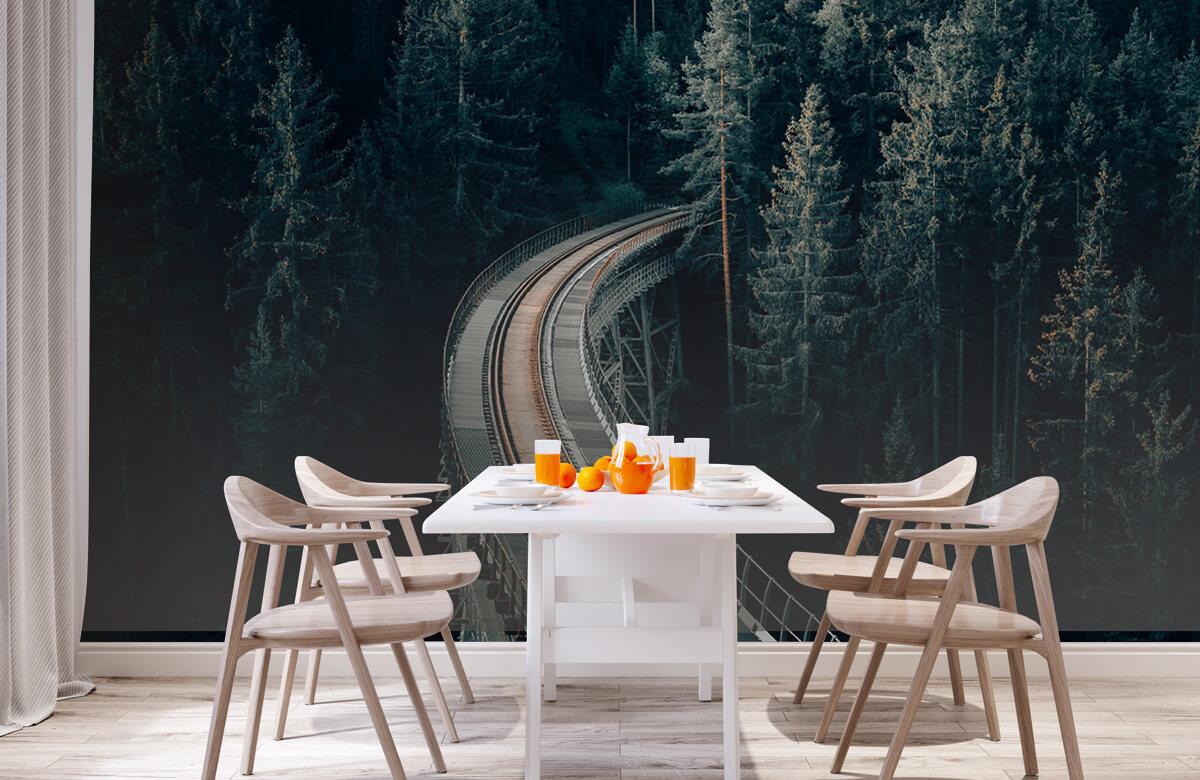 wallpaper Een oude verlaten spoorweg 2