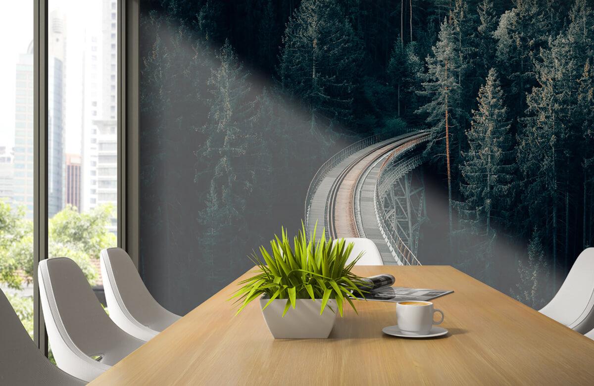 wallpaper Een oude verlaten spoorweg 5