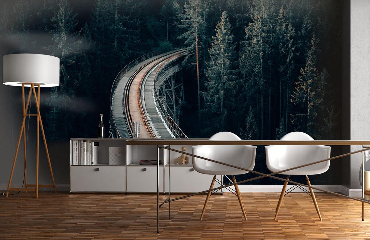wallpaper Een oude verlaten spoorweg 1