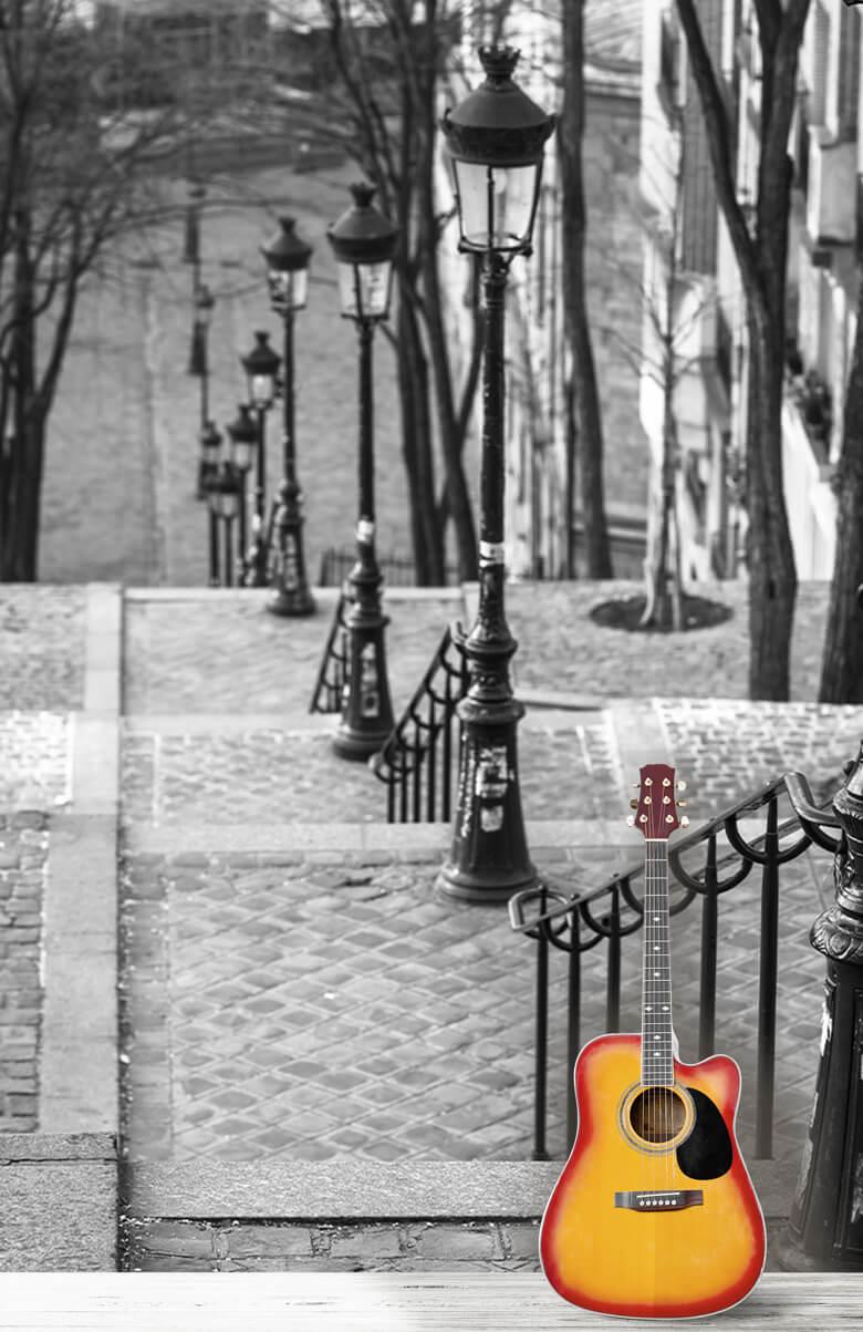 De beroemde trap in Montmartre 3