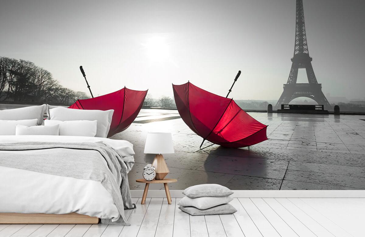 Rode paraplu's 3