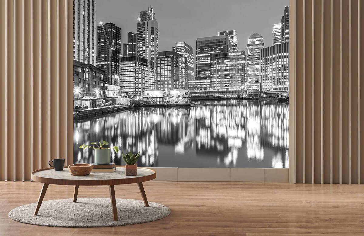 wallpaper Londen in zwart-wit 2