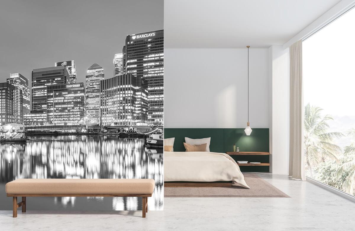 wallpaper Londen in zwart-wit 8
