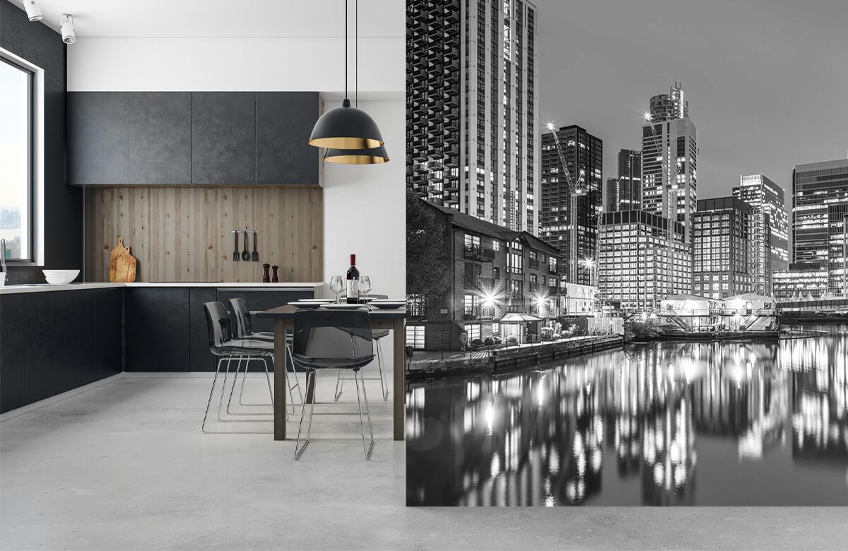 wallpaper Londen in zwart-wit 9