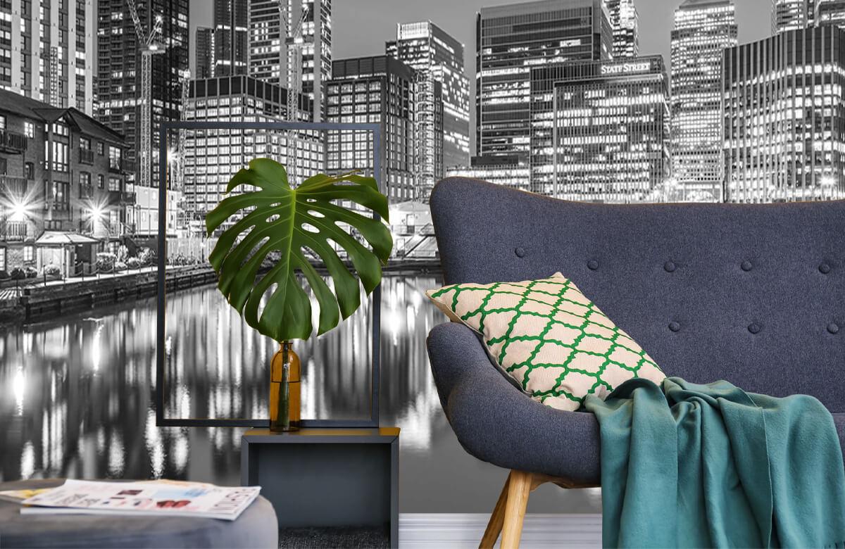 wallpaper Londen in zwart-wit 10