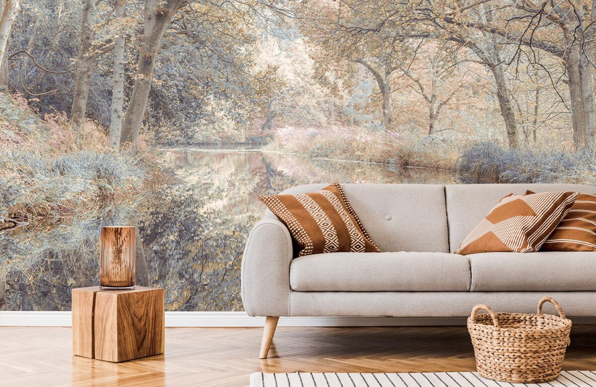 wallpaper Kanaal in het bos 7