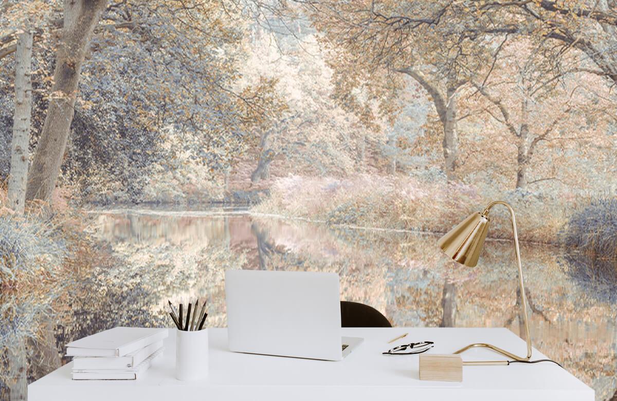 wallpaper Kanaal in het bos 8