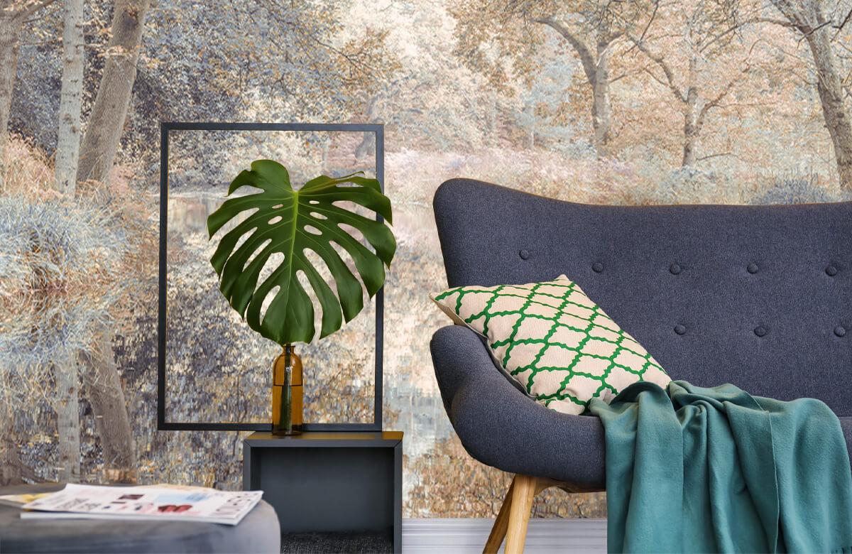 wallpaper Kanaal in het bos 10