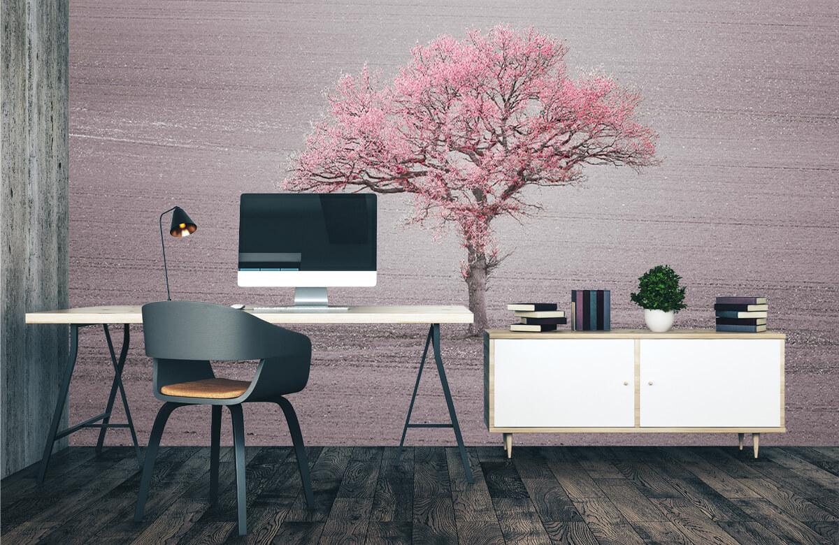 wallpaper Roze bladeren 1