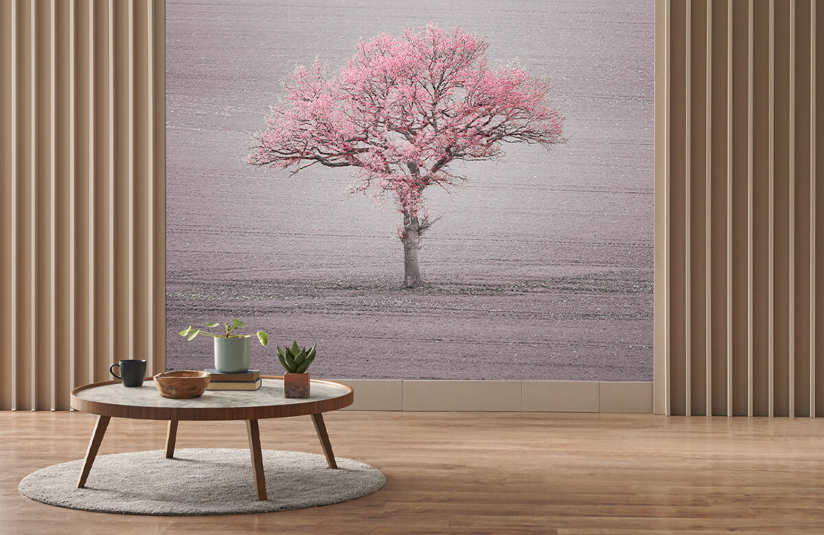 wallpaper Roze bladeren 2