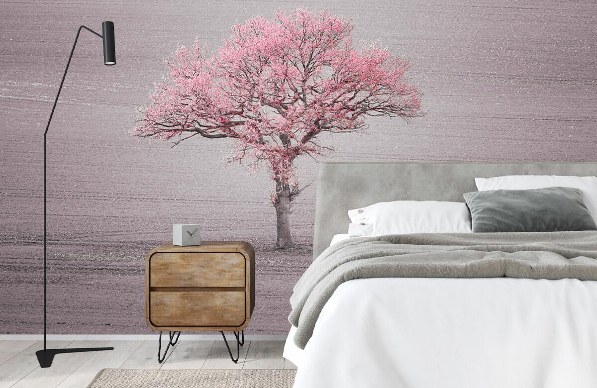 wallpaper Roze bladeren 3