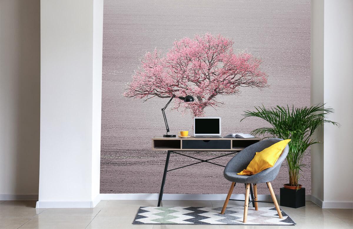 wallpaper Roze bladeren 4