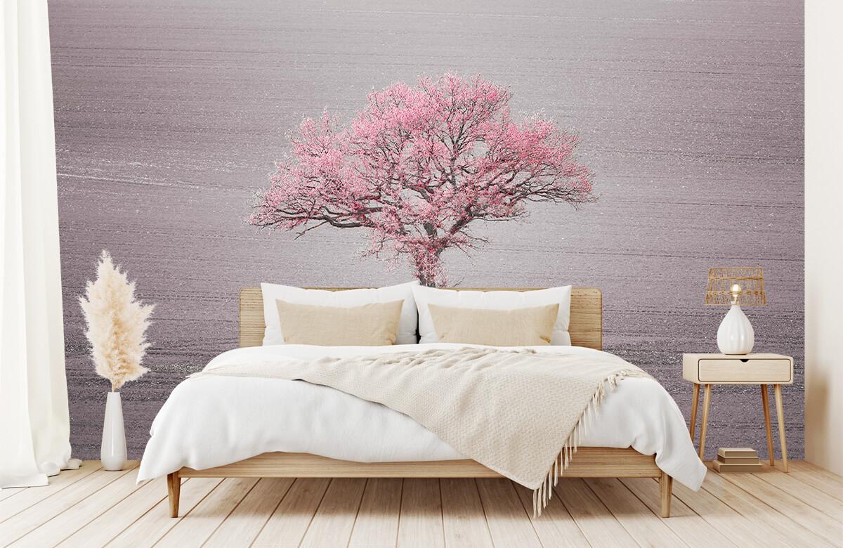 wallpaper Roze bladeren 5
