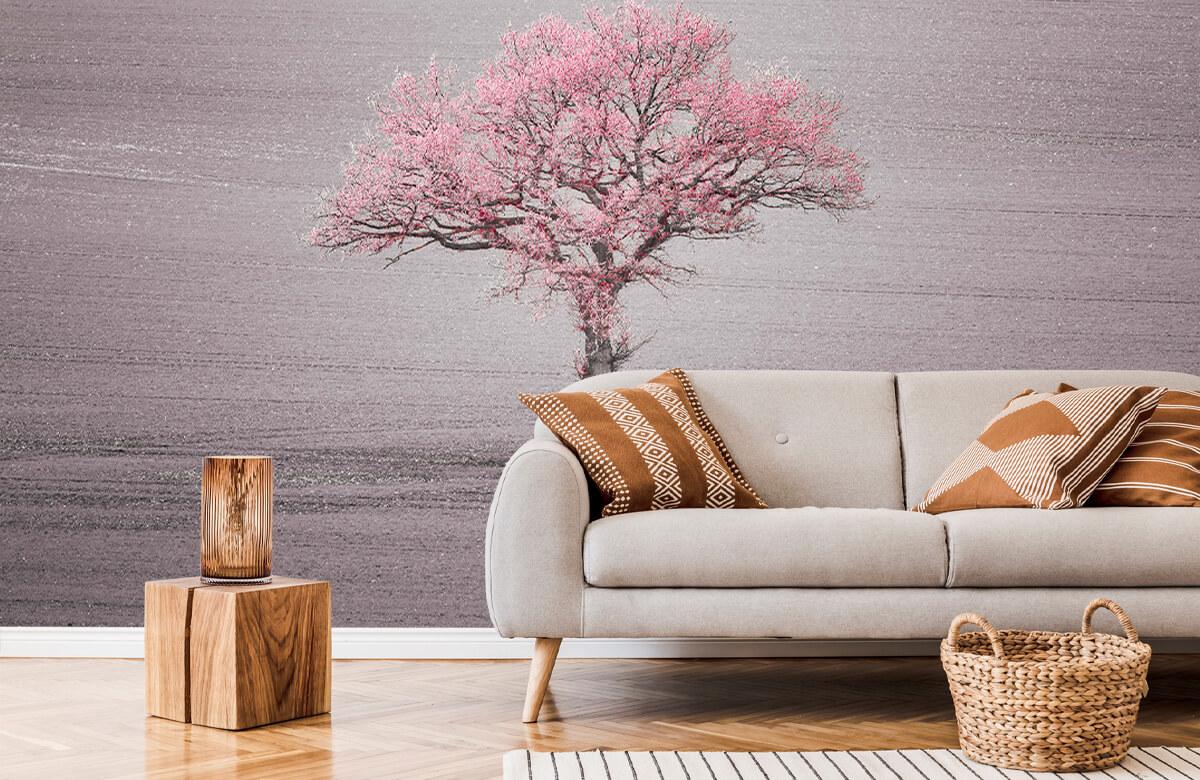 wallpaper Roze bladeren 6