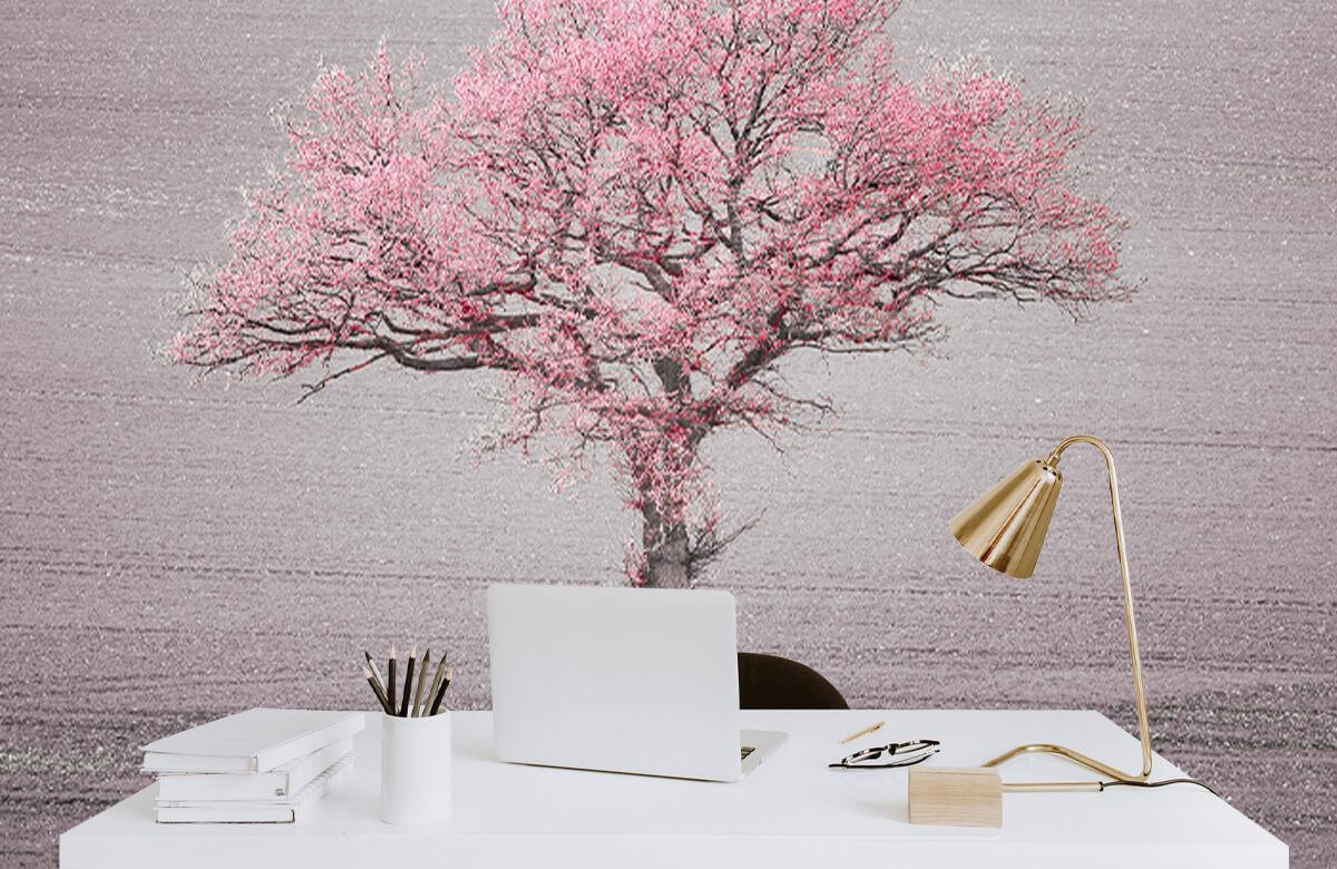 wallpaper Roze bladeren 7