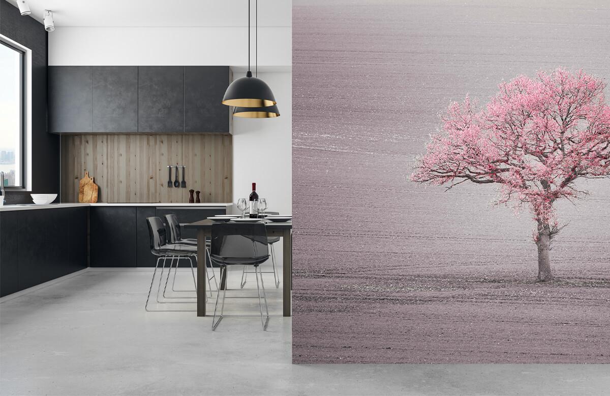 wallpaper Roze bladeren 9