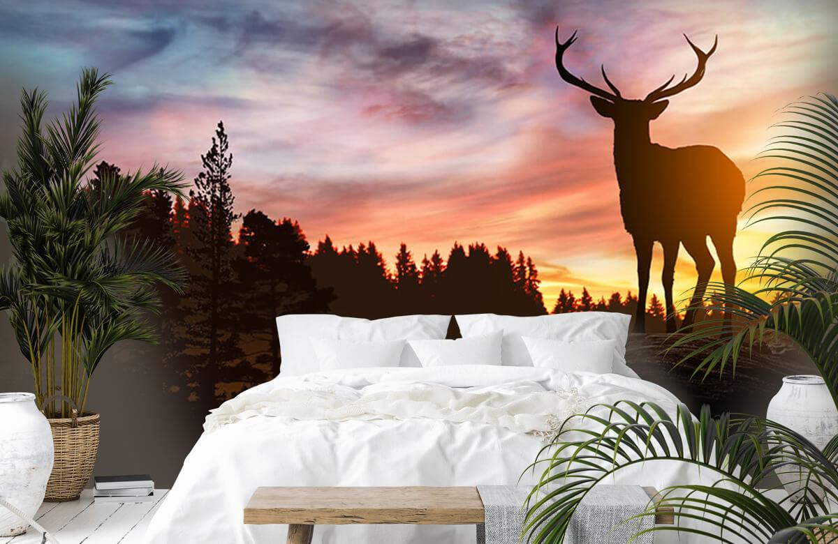 Hert met zonsondergang 9