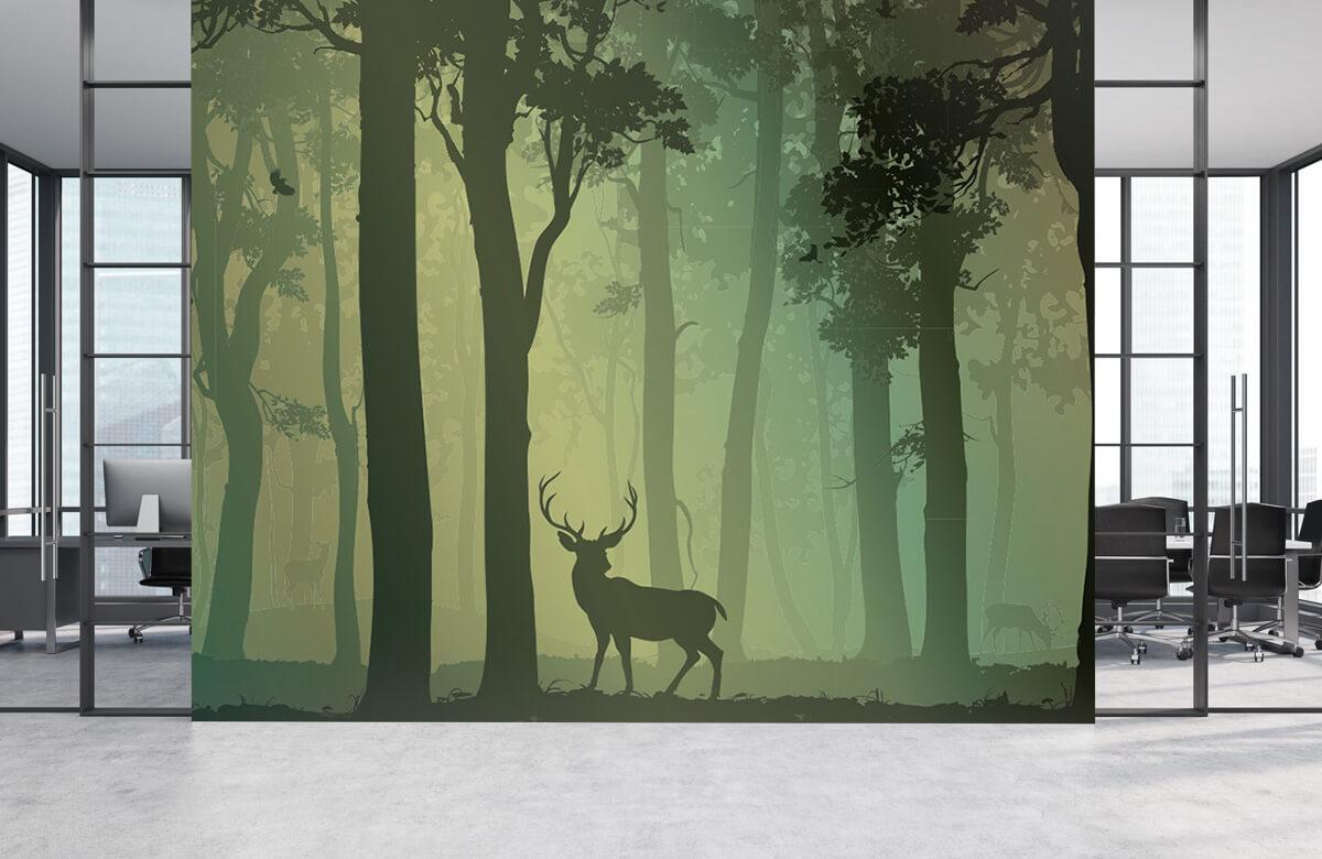 Hert in het bos 2
