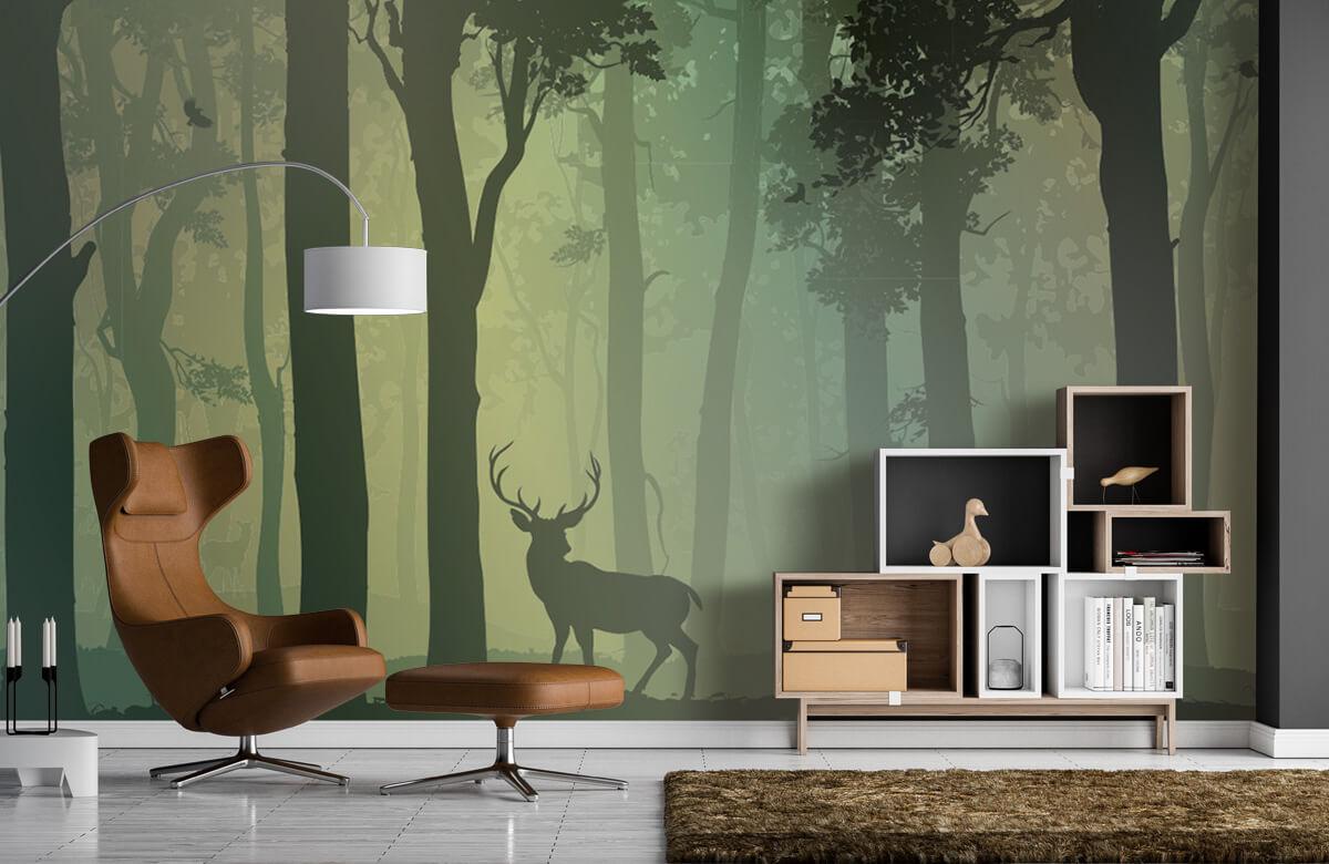 Hert in het bos 1