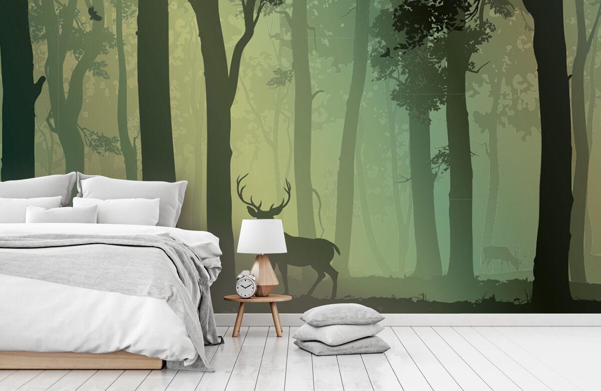 Hert in het bos 7