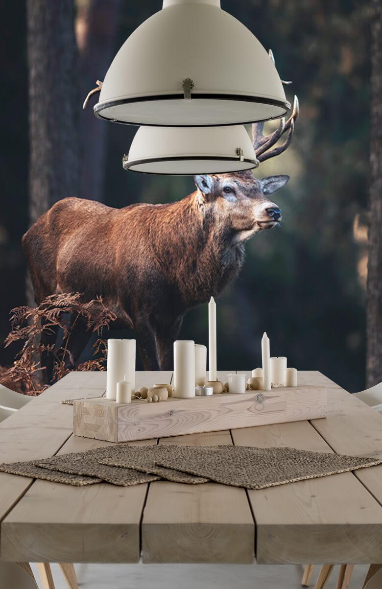 Hert op een heuvel 14