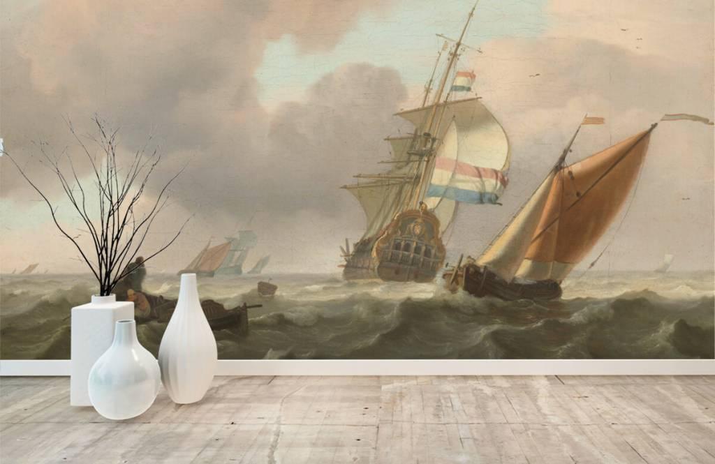 Rijksmuseum - Woelige zee met schepen - Woonkamer 1