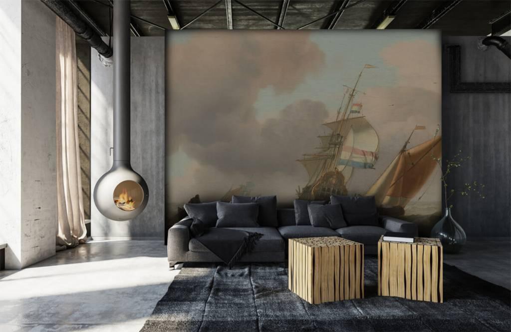 Rijksmuseum - Woelige zee met schepen - Woonkamer 2