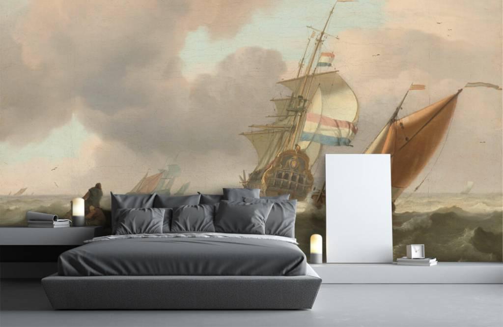 Rijksmuseum - Woelige zee met schepen - Woonkamer 3