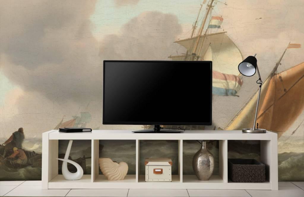 Rijksmuseum - Woelige zee met schepen - Woonkamer 5